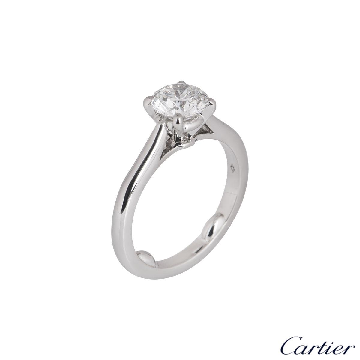 Cartier Platinum Diamond 1895 Solitaire Ring 1.16ct G/VVS1 XXX